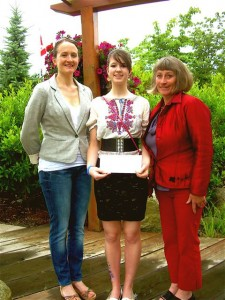 Tegan Jacson receives Sunshine Coast Dance Society Scholarship in 2011
