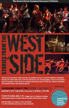 The Source Dance Company performs Stories from the West Side in Sechelt, May 3, 2014